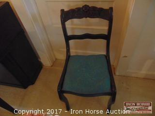 Walnut Carved Side Chair.
