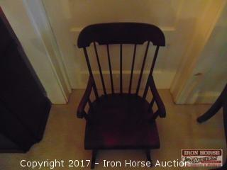 Spindle Back Child's Rocking Chair.