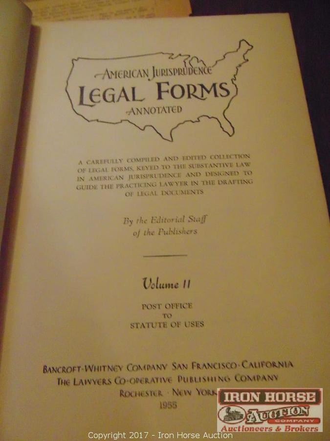 Iron Horse Auction Auction Estate Auction Of The Late Virginia - American legal forms