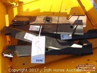 (4) Sets of New Mower Blades for Hustler Super Z