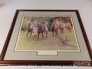 Framed, Matted, and Signed Print