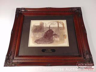 Framed, Matted and Signed Print