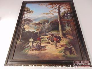 Framed Reproduction of a Painting