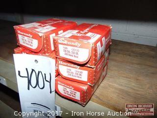 (6) Boxes 100 per box various Hornady 338 cal Bullets , Four 250 GR, two 225 Gr SST,