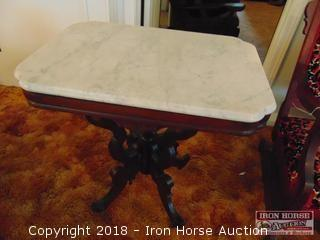 Marble Top Accent Table - Obtained from the Mrs. Eugene Wall Estate