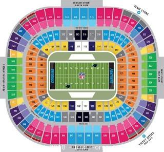 Carolina Panther Permanent Seat License Section 124, Row 8, Seat 7