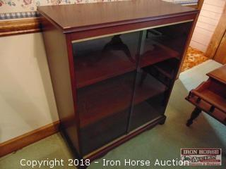 Mahogany Veneer Display Cabinet