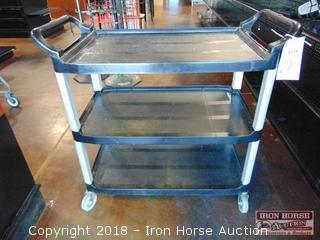 Hubert black bus cart