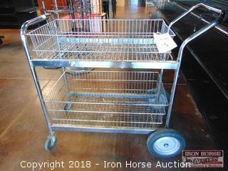 Chrome wire bus cart