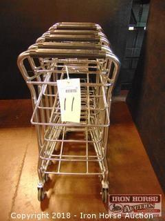 Shopping cart for green baskets