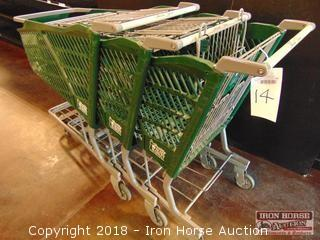 Technibilt full size green plastic shopping cart