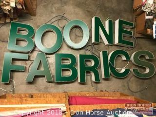 (12) Lighted Sign Letters