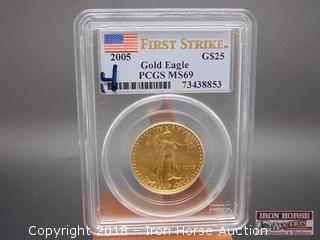 2005 $25.00 Gold Eagle Gold Coin