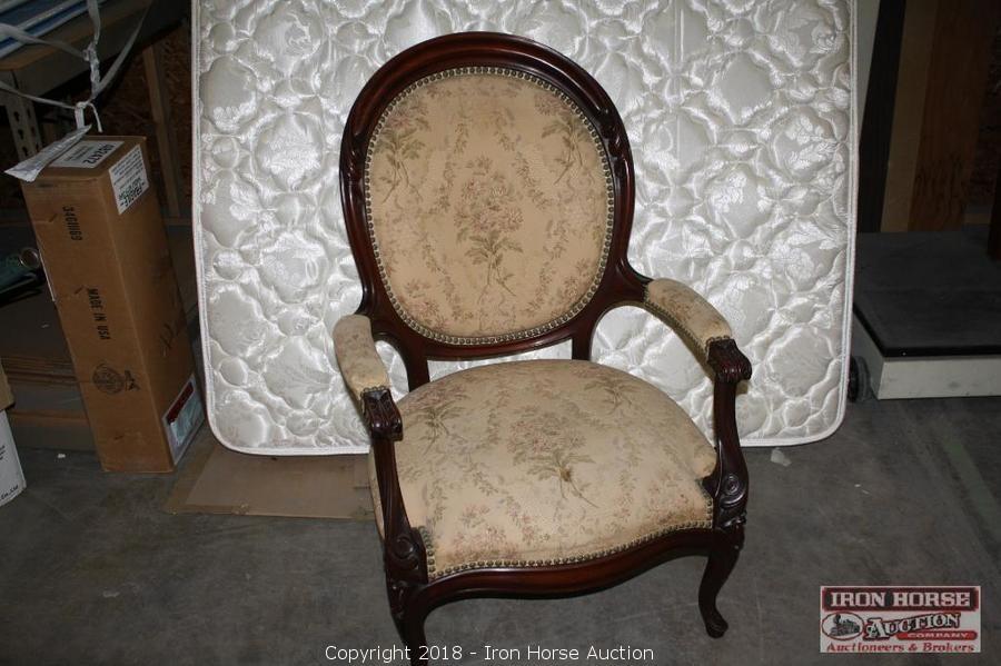 Iron Horse Auction - Auction: Antique Furniture Auction ITEM: Antique,  Victorian, Parlor, Arm Chair. - Iron Horse Auction - Auction: Antique Furniture Auction ITEM