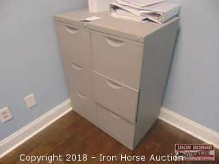 (2) Three Drawer Metal File Cabinets  - locks but no keys included