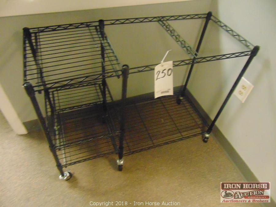 iron horse auction auction office furniture equipment auction rh ironhorseauction info Steel Shelving TV Carts On Wheels