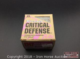 (2) Hornady Critical Defense Lite, 38spcl. 90gr, FTX