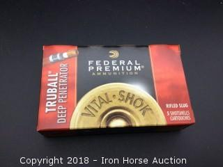 (10) Boxes 5 Rounds Federal 12Ga 2 3/4in Trubail Deep Penetrator Rifled Slug