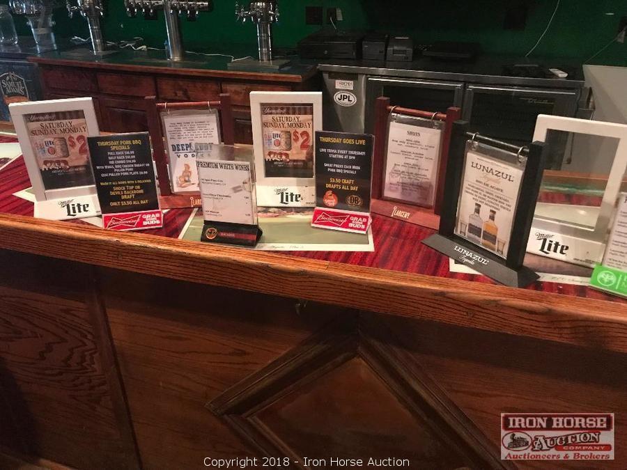 iron horse auction auction restaurant and bar equipment auction