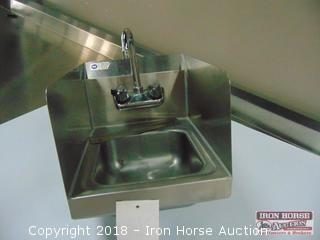 Royal model HS12SP hand wash sink with splash guards 12in wide 16in deep 12in tall