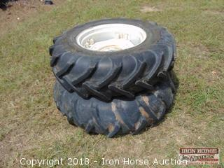 (2) 14.9-24/13-24 Tractor Tires Mounted