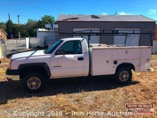 2005 Chevrolet Silverado 2500HD Work Truck With Utility Bed, Ladder Rack And Tommy Lift Gate, VIN: 1GBHC24U85E301889