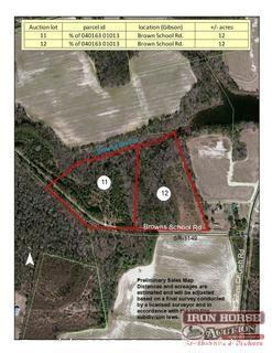 12+/- Acres on Browns School Road in Gibson, NC
