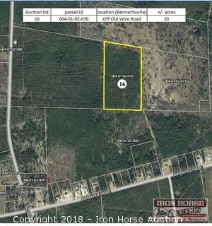 20+/- Acres off Old Wire Road in Bennettsville, SC