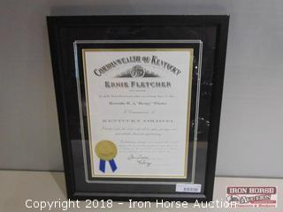 "2004, ""Kentucky Colonel Commission"" of Humpy Wheeler."