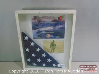 2007, Camp Alamo, Afghanistan, American Flag.