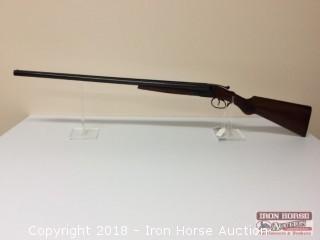 Hunter Arms Fulton Double Barrel  12ga., Serial F183673, (V46388)