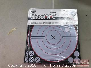 (7) Shoot-N-C Self Adhesive Targets 8 inch