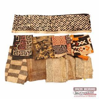 Box of Twelve African Textiles