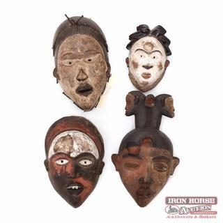 Four African Igbo Tribal Masks