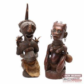 Two African Carved Figures