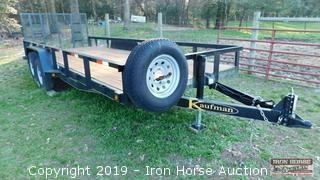 2013 20' Kaufman Bumper Hitch Trailer
