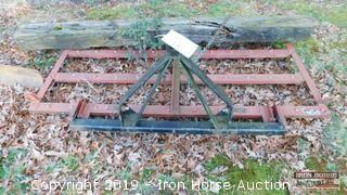 "Howse 83"" 3 Pt. Hitch Drag Harrow"
