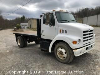 2001 Sterling 14 Ft Dump Flat Bed  -  VIN:  2FVAARAK51AH80174, CAT 3126 Diesel Engine, 235,350 miles showing,