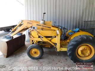 Ford Workmaster Diesel Commercial Tractor  -  Ser:  C631487;  Mod:  CU 3141; Engine # 9126B;  Unit # 9127B; Front-end loader; Hours unknown, New Battery.  Cranks and runs well