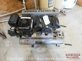 United Power UAC-2T Gas Powered Air Compressor  -  Liquid Combustions Technology 2008 Series Motor;  Dual 4 gallon air tanks; Mod:  UAC