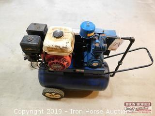 Blue 20 Gallon Portable Air Compressor  -  Honda 5.5 HP GX 160 Gas Engine