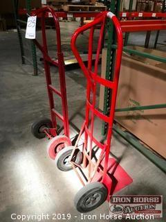 Two Hand Trucks with Rubber Tires