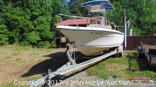 2001 KEY WEST CENTER CONSOLE  20' BOAT AND TRAILER