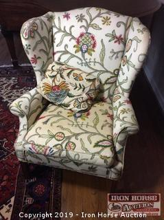 Tapestry Wingback Chair