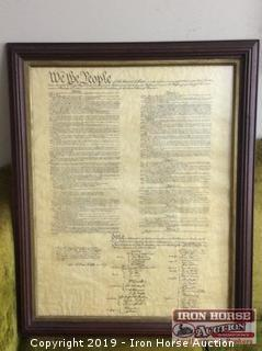Framed Copy of The Constitution