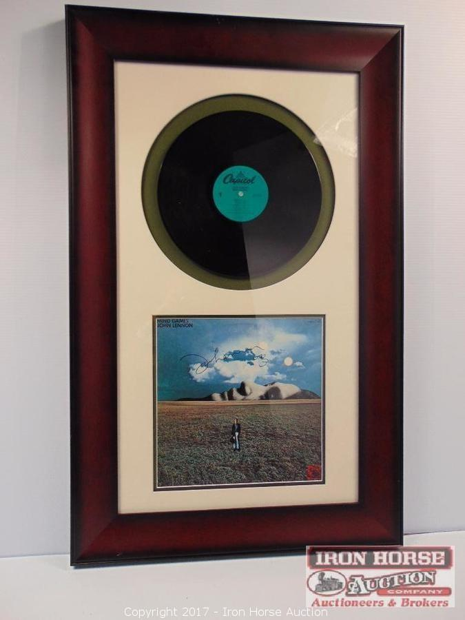 Iron Horse Auction Auction Antique Canes Beatles Autographed Memorabilia Rolling Stones Autographed Memorabilia And Artwork Item Framed John Lennon Signed Mind Games Album