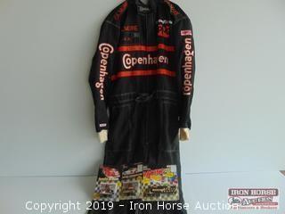 AJ Foyt Race Suit and Memorabilia