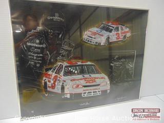 Dale Earnhardt Sam Bass Quick Silver Framed Print