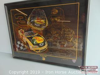 Dale Earnhardt Sam Bass Framed Print