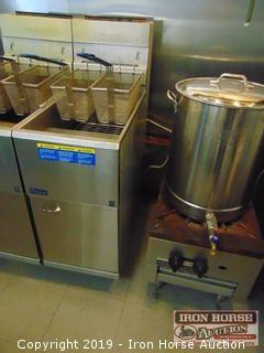 Pitco 45 pound natural gas deep fat fryer